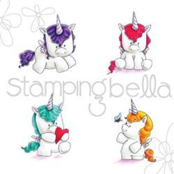"371003 Stamping Bella Cling Stamp Set Of Unicorns 6.5""X4.5"""