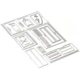 EC1739 Elizabeth Craft Metal Die Note Pieces