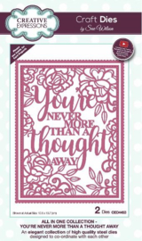CED4453 Creative Expressions All in one craft die You're never more than a thought away