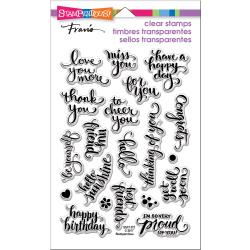 "215597 Stampendous Perfectly Clear Stamps Brushed Wishes 7.25""X4.625"""