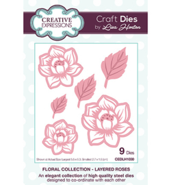 CEDLH1030 The Floral Collection Layered Roses