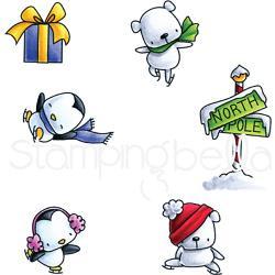 256833 Stamping Bella Cling Stamps Skating Quartet