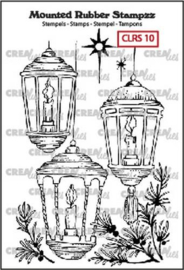 130505/5110 Crealies Mounted Rubber Stampzz no. 10 lantaarns