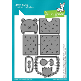 LF2439 Lawn Cuts Custom Craft Die Tiny Gift Box Hedgehog Add-On