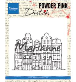 PP2804 Marianne Design Powder Pink Canal houses