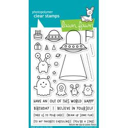 "LF1597 Lawn Fawn Clear Stamps Beam Me Up 4""X6"""