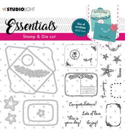 BASICSDC57 StudioLight SL Stamp & Cutting Die Rectangular fancy envelope Essentials nr.57