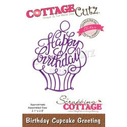 "CCE547 CottageCutz Elites Die Birthday Cupcake Greeting, 2.1""X2.8"""