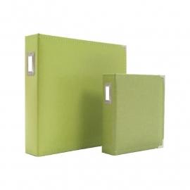 """038483 Sn@p! Leather Binder 6""""X8"""" Green"""