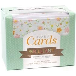233900 Box Of Patterned Cards With Envelopes Brilliant