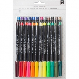 530058 Brush Markers Assorted 24/Pkg