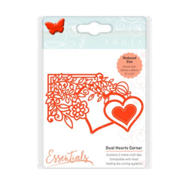 115631/1538 Tonic Studios Die fanciful floral duel hearts 1538E