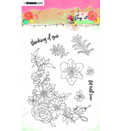 SL-SWF-STAMP525 StudioLight SL Clear Stamp Say it with flowers nr.525