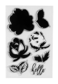 STP-001  Spellbinders Layered Rose Clear Stamps