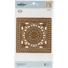 S41047 Spellbinders Flourished Fretwork Etched Die Richelieu Square By Becca Feeken