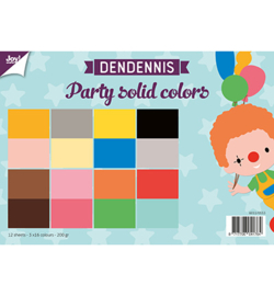 6011/0553 Dendennis Party solid colors Papier Set A4