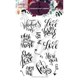 """624373 Colorado Craft Company Clear Stamps You & Me-Savvy Sentiments 4""""X6"""""""