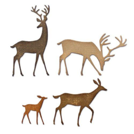 664968 Sizzix Thinlits Die Set Darling Deer Tim Holtz