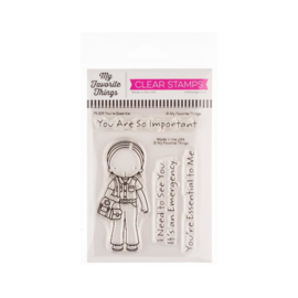 "PI309 My Favorite Things Pure Innocence Stamps You're Essential 3""X4"""