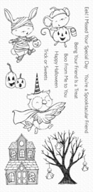 SY-12 My Favorite Things Spooktacular Friends Clear Stamps