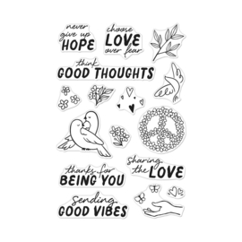 "646291 Hero Arts Clear Stamps Good Vibes 4""X6"""