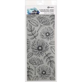 HUR78159 Simon Hurley create. Slimline Stamps Fresh Cut Flowers