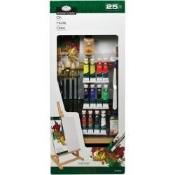 "513892 Easel Art Set Large Oil ""H"" Set 25pc"