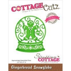"506470 CottageCutz Elites Die Gingerbread Snowglobe 2.5""X3"""