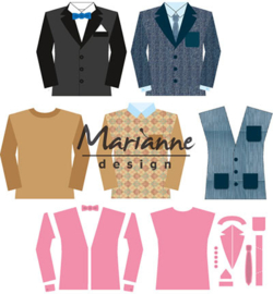 COL1434 Marianne Design Collectables Men's wardrobe