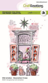 130501/2304 CraftEmotions clearstamps A6 - Oud raam - Decoration X-mas Carla Kamphuis