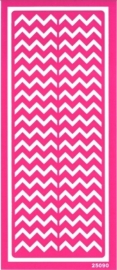 PE25090 Mod Podge Rocks Peel & Stick Stencil - Chevron