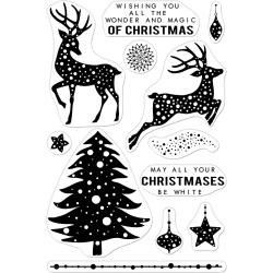 "520952 Hero Arts Clear Stamps Wonder & Magic Of Christmas 4""X6"""
