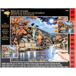 "464737 Paint By Number Kit Fall River Train 16""X20"""