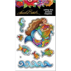 368523 Stampendous Laurel Burch Dies Mermaid Fish