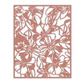665203 Sizzix Thinlits Die - Flowery Tim Holtz