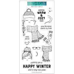 "557642 Concord & 9th Clear Stamps Winter Wear 4""X8"""