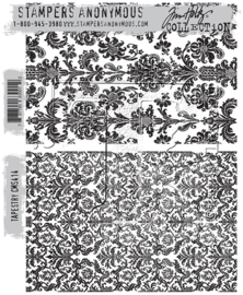 "CMS 414 Tim Holtz Cling Stamps Tapestry 7""X8.5"""