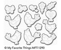 MFT-1290 My Favorite Things A Tweet Hello Die-Namics