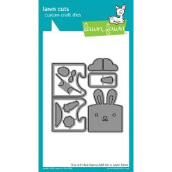 LF1610 Lawn Cuts Custom Craft Die Tiny Gift Box Bunny Add-On
