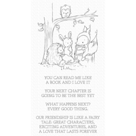 """RAM005 My Favorite Things Clear Stamps Fairy-Tale Friendship 4""""X8"""""""