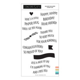 """655427 Concord & 9th Clear Stamps Banner Builder 4""""X8"""""""