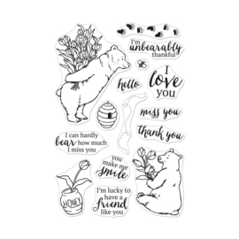 "621720 Hero Arts Clear Stamps Unbearably Thankful 4""X6"""