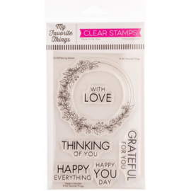 "CS559 My Favorite Things Clear Stamps Spring Wreath 4""X6"""