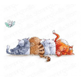 565571 Stamping Bella Cling Stamps Squishy Cats