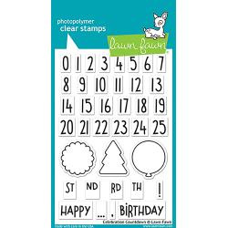 "LF1476 Lawn Fawn Clear Stamps Celebration Countdown 4""X6"""