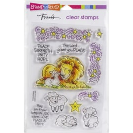 SSC1414 Stampendous Perfectly Clear Stamps Lion Lamb Frame