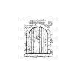 HCPC3908 Heartfelt Creations Cling Rubber Stamp Set French Doorway, French Cottage