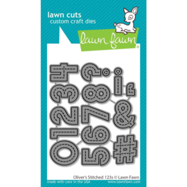 LF2262 Lawn Cuts Custom Craft Die Oliver's Stitched 123's