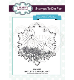 UMS887 Stempel Hayley's Candlelight