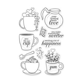 "621718 Hero Arts Clear Stamps Cup Of Love 4""X6"""